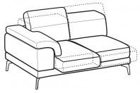 Sofas Norton 2-er lateral element with sliding seats