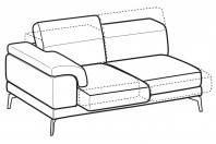 Sofas Norton 3-er lateral element with with sliding seats