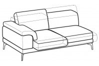 Sofas Norton 3-er maxi lateral element with sliding seats