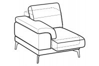Sofas Norton 1-er small lateral element with sliding seat
