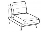 Sofas Norton 1-er small central element with sliding seat