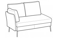 Sofas Ralph 2-er lateral element