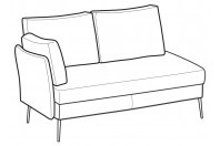Sofas Ralph 3-er lateral element