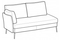 Sofas Ralph 3-er maxi lateral element