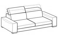 Sofas Robert 3-er maxi sofa