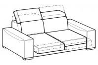 Sofas Robert 2-er sofa with sliding seats
