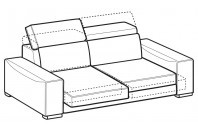 Sofas Robert 3-er sofa with sliding seats