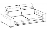 Sofas Robert 3-er maxi sofa with sliding seats
