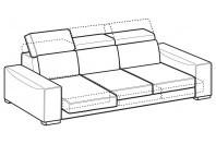 Sofas Robert 4-er sofa with sliding seats