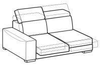 Sofas Robert 2-er lateral element with sliding seats