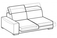 Sofas Robert 3-er lateral element with with sliding seats