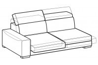 Sofas Robert 3-er maxi lateral element with sliding seats