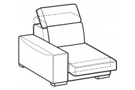 Sofas Robert 1-er lateral element with sliding seat