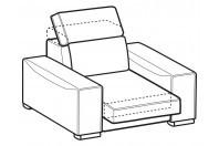 Sofas Robert Armchair with sliding seat