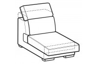 Sofas Robert 1-er central element with sliding seat