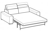 Sofas Robert 3-er maxi bed with electro-welded base