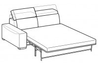 Sofas Robert 3-er maxi lateral element with electro-welded base