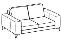 Sofas Russel 2-er sofa