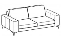 Sofas Russel 2-er maxi sofa