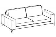 Sofas Russel 3-er sofa