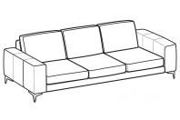 Sofas Russel 3-er maxi sofa