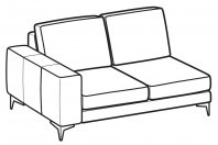 Sofas Russel 2-er lateral element