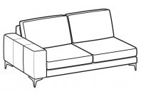 Sofas Russel 2-er maxi lateral element