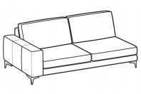 Sofas Russel 3-er lateral element
