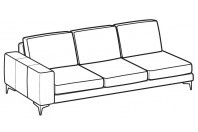 Sofas Russel 3-er maxi lateral element