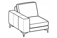 Sofas Russel 1-er lateral element