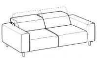 Sofas Sebastian 3-er sofa