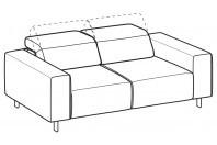 Sofas Sebastian 3-er maxi sofa