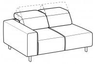 Sofas Sebastian 2-er lateral element
