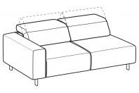 Sofas Sebastian 3-er lateral element