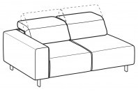 Sofas Sebastian 3-er maxi lateral element