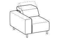Sofas Sebastian 1-er small lateral element
