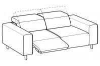 Sofas Sebastian 3-er sofa with 1 relax
