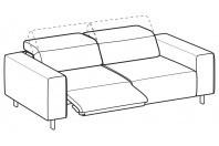 Sofas Sebastian 3-er maxi sofa with 1 relax