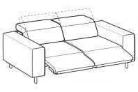 Sofas Sebastian 3-er sofa with 2 relax