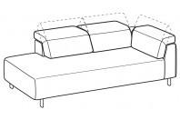 Sofas Sebastian Angular side element