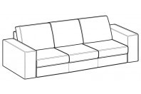 Sofas Simba 3-er maxi sofa with three seats
