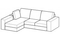 Sofas Simba Reversible composition with footstool