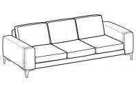 Sofas Spencer 3-er maxi sofa