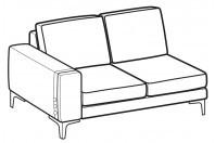 Sofas Spencer 2-er lateral element