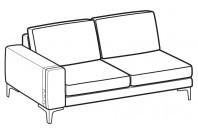 Sofas Spencer 2-er maxi lateral element