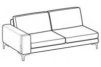 Sofas Spencer 3-er lateral element