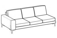 Sofas Spencer 3-er maxi lateral element