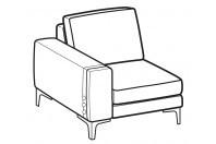 Sofas Spencer 1-er lateral element