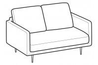 Sofas Tidy 2-er mini sofa