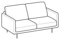 Sofas Tidy 2-er sofa